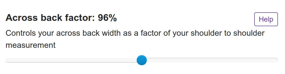 The across back factor option