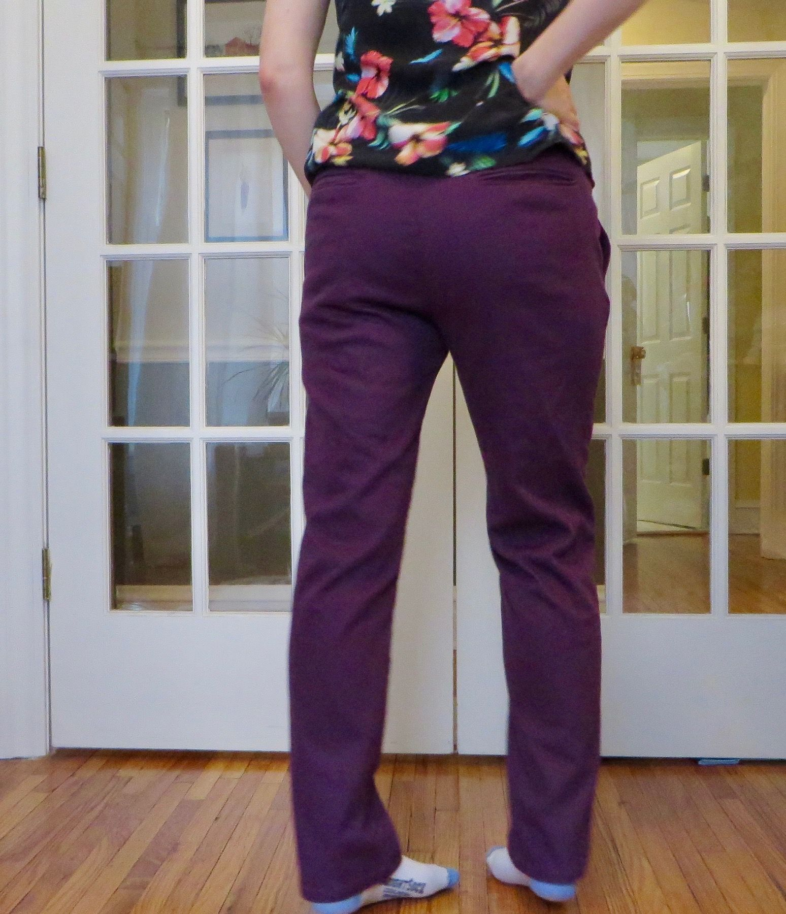 Rear view of Charlie Chinos
