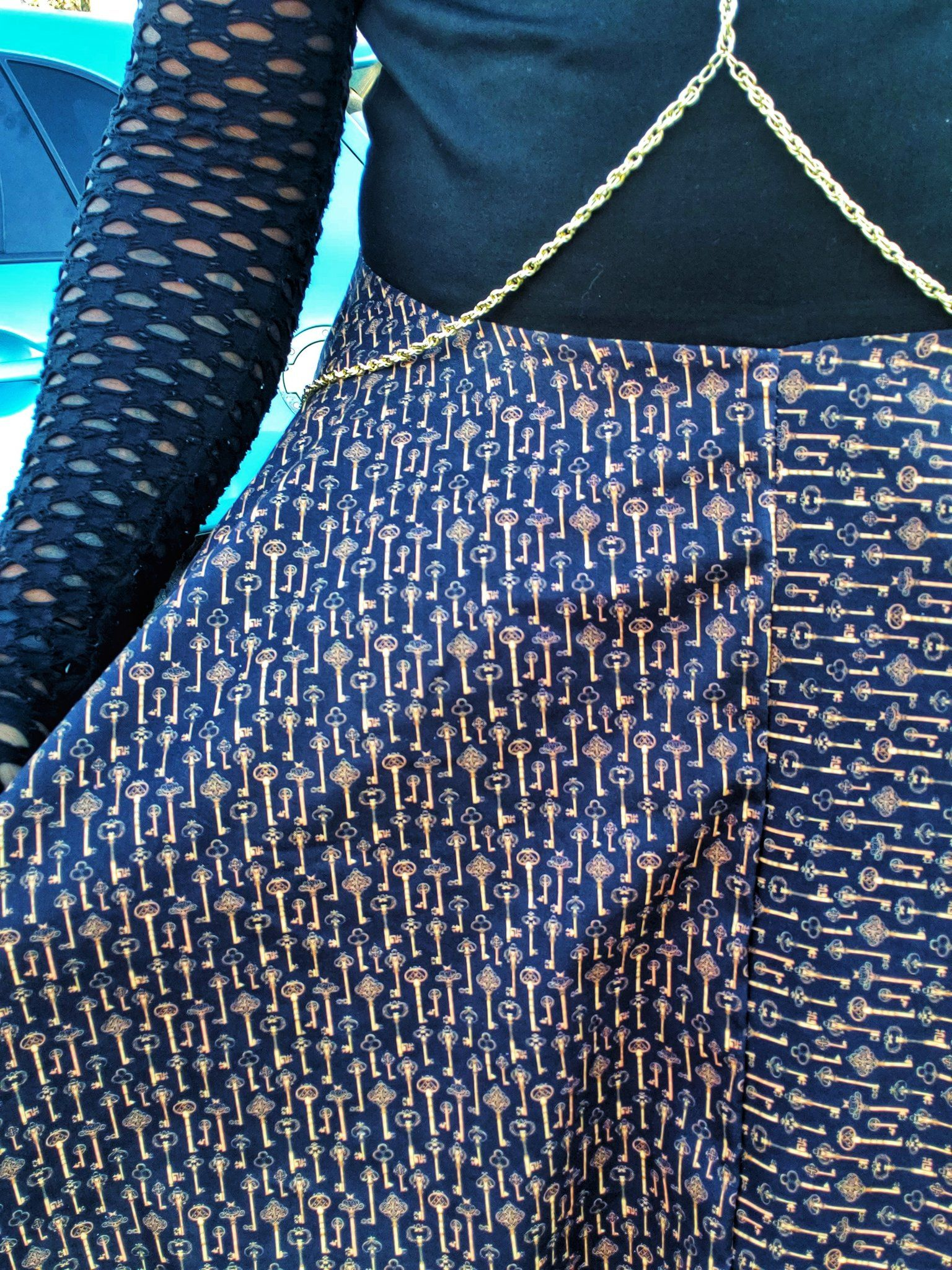 close up of the key fabric