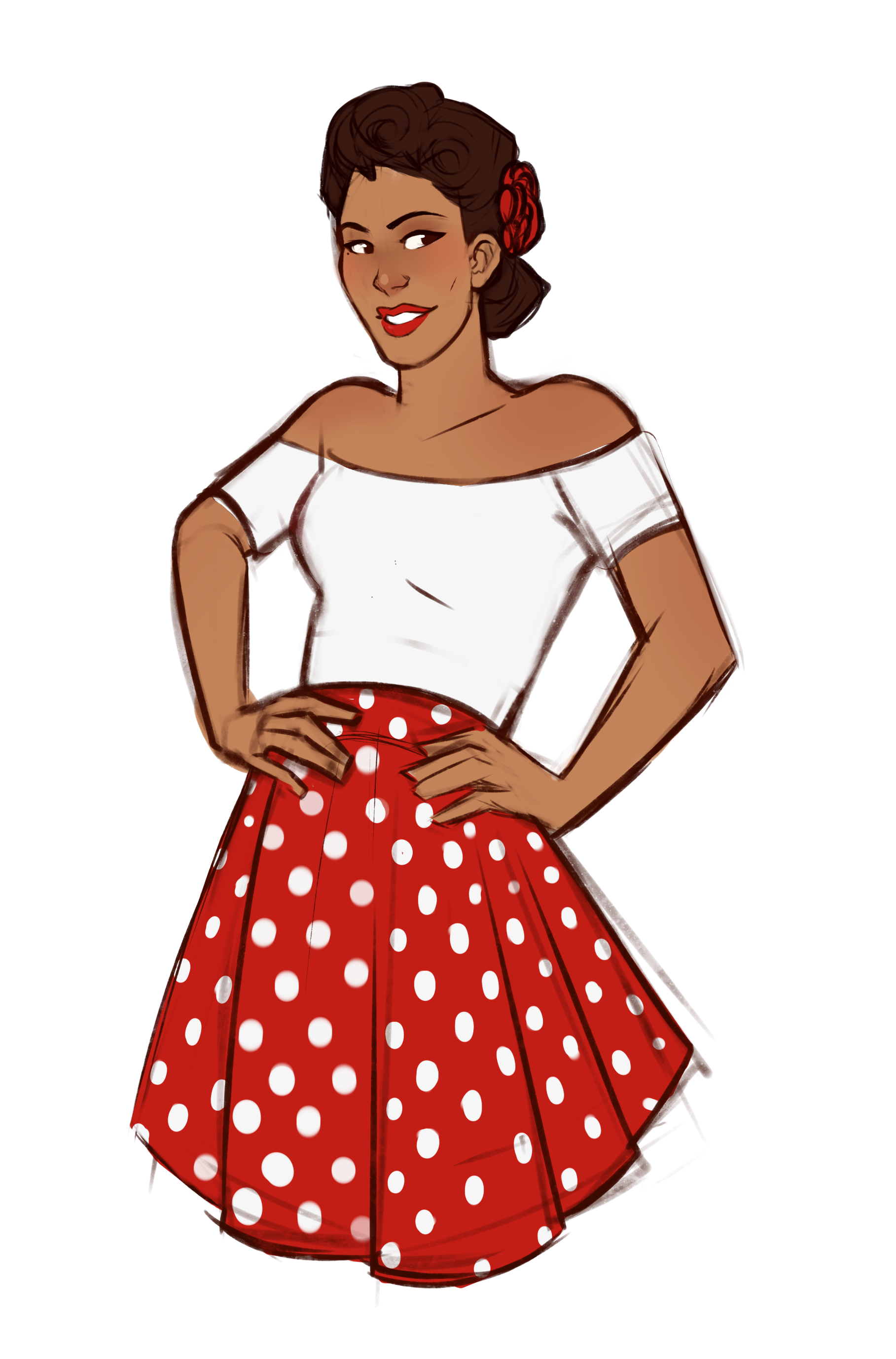 Meat the Sandy Circle Skirt